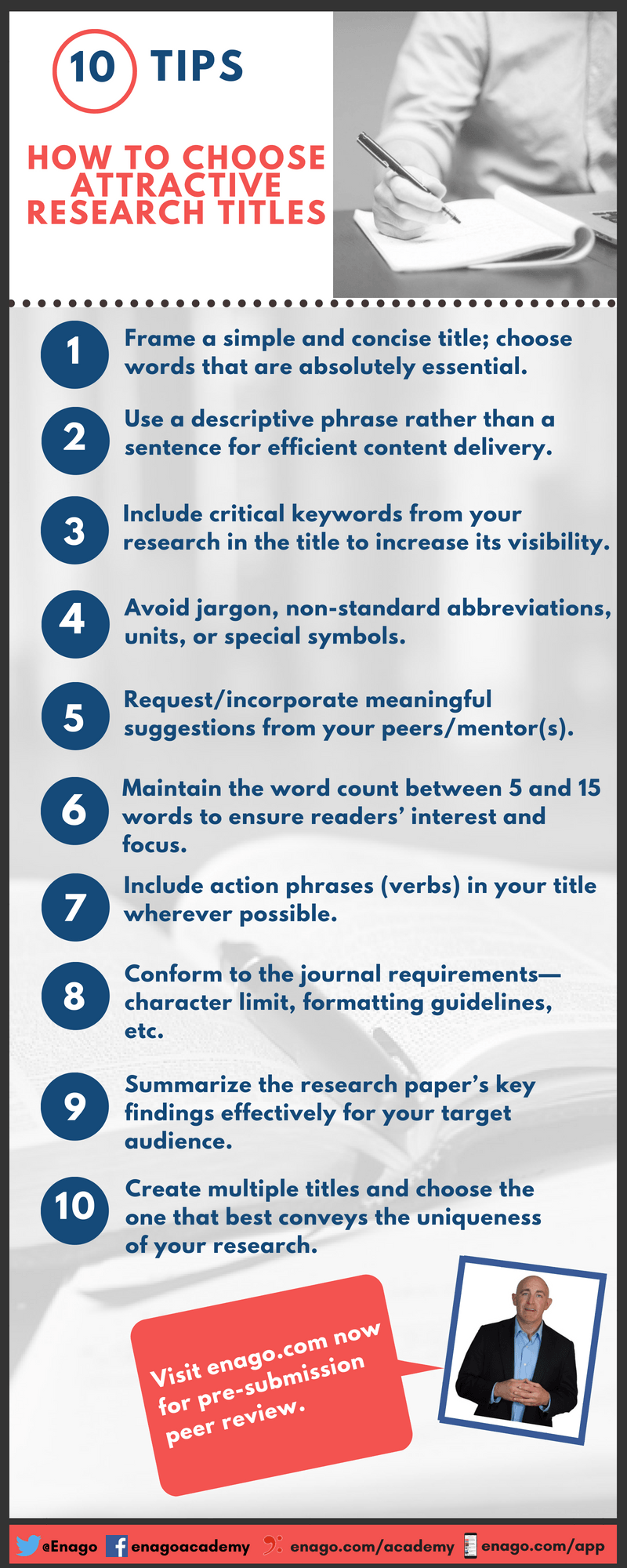 5 Important Tips On Choosing a Research Paper Title - Enago Academy