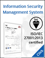 ISO isms certificate