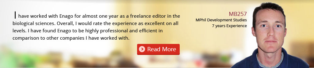 editing career: thesis Editor job, scientific proofreader job